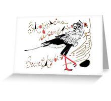 Secretarybird, Sagittarius serpentarius  Greeting Card
