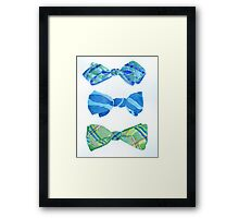 Bow Ties Framed Print