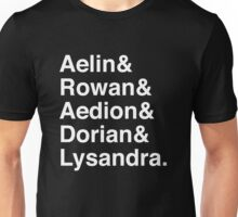 Aelin & Rowan & Aedion & Dorian & Lysandra. (Throne of Glass) (Inverse) Unisex T-Shirt