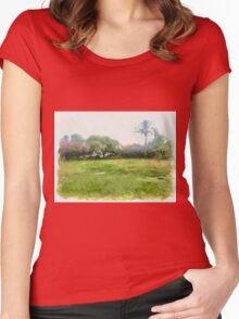 grass Women's Fitted Scoop T-Shirt