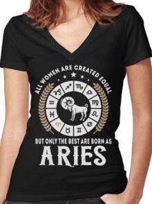 Aries Women Women's Fitted V-Neck T-Shirt
