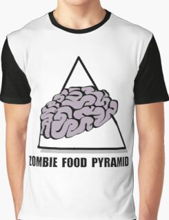 Zombie Food Pyramid Graphic T-Shirt