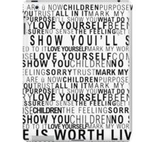 Justin Bieber Lyrics iPad Case/Skin