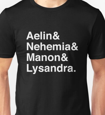 Aelin & Nehemia & Manon & Lysandra. (Throne of Glass) (Inverse) Unisex T-Shirt