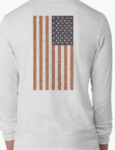 American, Stars & Stripes, Flag, Portrait CRUSTY, RUSTY Long Sleeve T-Shirt