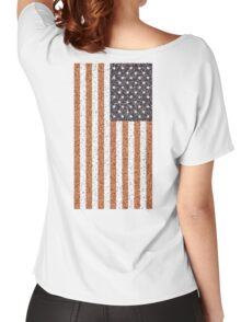 American, Stars & Stripes, Flag, Portrait CRUSTY, RUSTY Women's Relaxed Fit T-Shirt