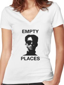 Empty Places Women's Fitted V-Neck T-Shirt