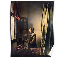 Johannes Vermeer - Girl Reading a Letter by an Open Window  1659 Poster