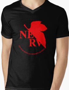 Neon Genesis Evangelion - NERV Logo Mens V-Neck T-Shirt