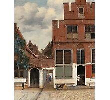 Johannes Vermeer - The Little Street Around 1658 Photographic Print