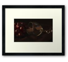 Spilt Grapes Framed Print