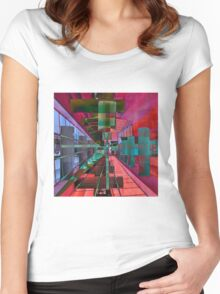 MAGIC CITY LINES Women's Fitted Scoop T-Shirt