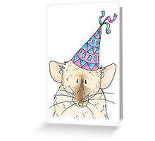 Party Rat in a Hat Greeting Card