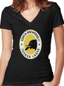 Tusker Beer Kenya Women's Fitted V-Neck T-Shirt