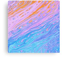Cool Turquoise Abstract Pastel Water Canvas Print