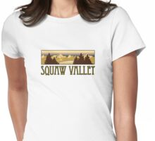 squaw valley ski resort truck stop novelty tee Womens Fitted T-Shirt