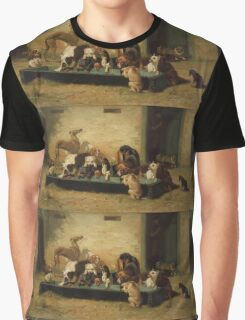 John Charles Dollman  - Table d Hote at a Dogs  Home 1879 Graphic T-Shirt