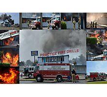 Newport Oregon Fire Department Drill - Practice Fire Drills Photographic Print