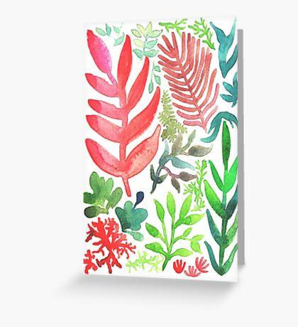 Red Corals & Laurels Greeting Card