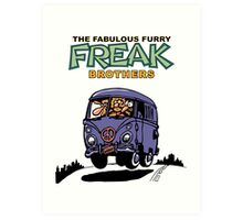Fabulous Furry Freak Brothers Bus! Art Print