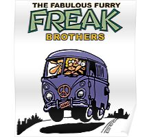 Fabulous Furry Freak Brothers Bus! Poster