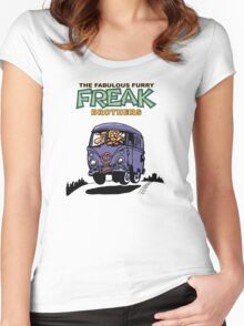 Fabulous Furry Freak Brothers Bus! Women's Fitted Scoop T-Shirt