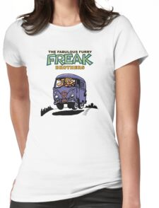 Fabulous Furry Freak Brothers Bus! Womens Fitted T-Shirt