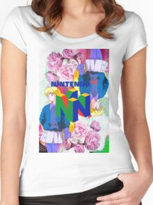 Nintendo Aesthetic Design Women's Fitted Scoop T-Shirt