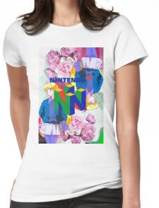 Nintendo Aesthetic Design Womens Fitted T-Shirt