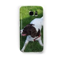 Springer Spaniel in the shade Samsung Galaxy Case/Skin