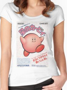Kirby Japanese Video Game Design Women's Fitted Scoop T-Shirt