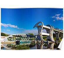 Falkirk Wheel Reflections Poster
