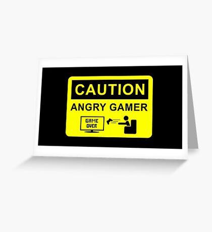 Angry Gamer  Greeting Card