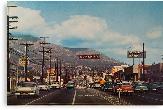 Sunland california 1950 39 s canvas prints by muethbooth for Sun t shirts sunland california