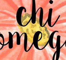 Chi Omega Sticker