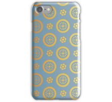 Blue and gold abstract geometric modern background. Texture of gold foil. Art deco style. iPhone Case/Skin