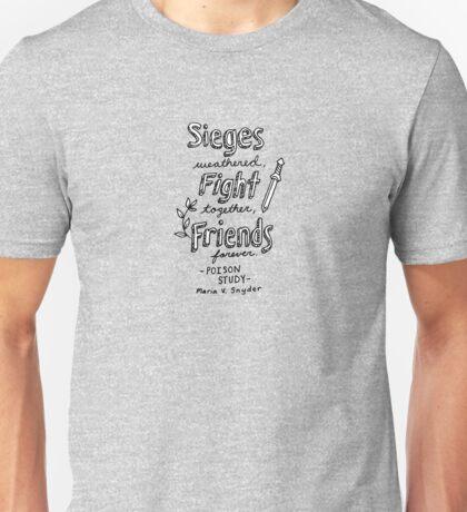 Poison Study Quote Design Unisex T-Shirt