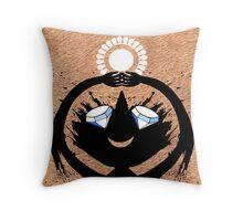 Diamond Eye Sun Dance Rorscharch Creature Throw Pillow