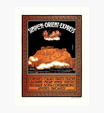Art Deco Orient Express advertising Athens travel ad Art Print