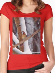 Oh great, and I just had my hair done! Women's Fitted Scoop T-Shirt