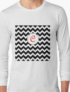 Red C Chevron Long Sleeve T-Shirt