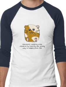 Hamster's messing up science Men's Baseball ¾ T-Shirt