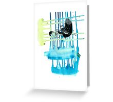 Dripping into Insanity Greeting Card