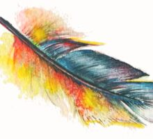 Little Parrot Feather Watercolor Sticker