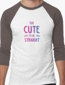 2 cute 2bi straight Men's Baseball ¾ T-Shirt