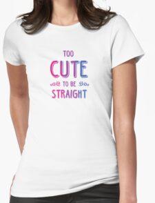 2 cute 2bi straight Womens Fitted T-Shirt