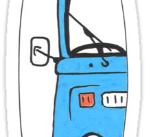 "VW Campervan ""Blue Bay"" Mini Surfboard Sticker"