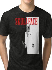 Skull Face Tri-blend T-Shirt
