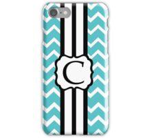 C Turquoise Chevron II iPhone Case/Skin