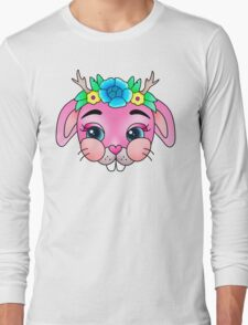 Flower Crown Baby Bunny Long Sleeve T-Shirt